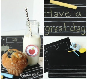 Chalkboard Placemats for Kids