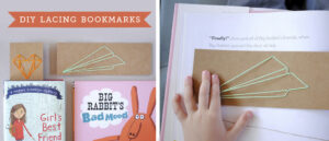 DIY lace bookmarks for kids