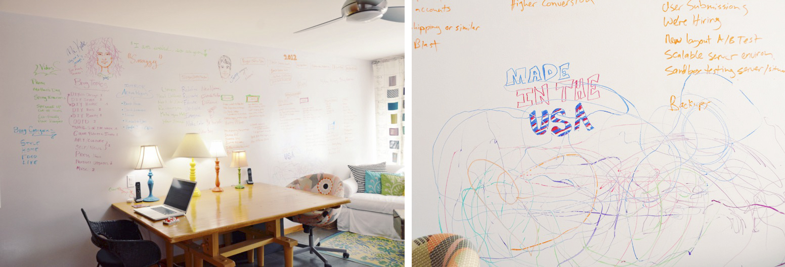 DIY Whiteboard Walls For Children's Bedroom