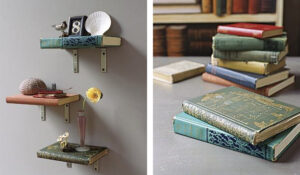 DIY Floating Book Shelves