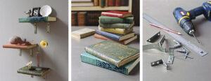 DIY Floating Book Shelves