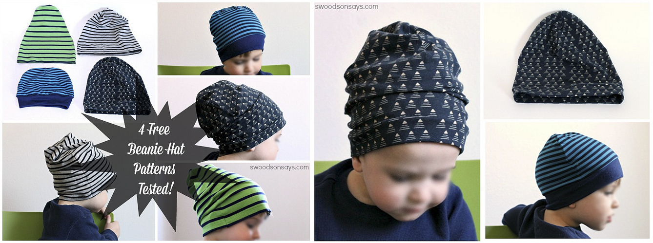 Kids Knit Beanie Hat Tutorial + Patterns
