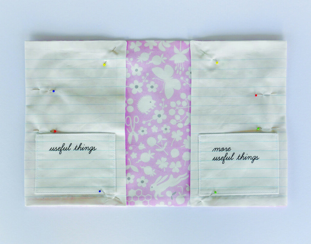 fold in covers to create two flaps