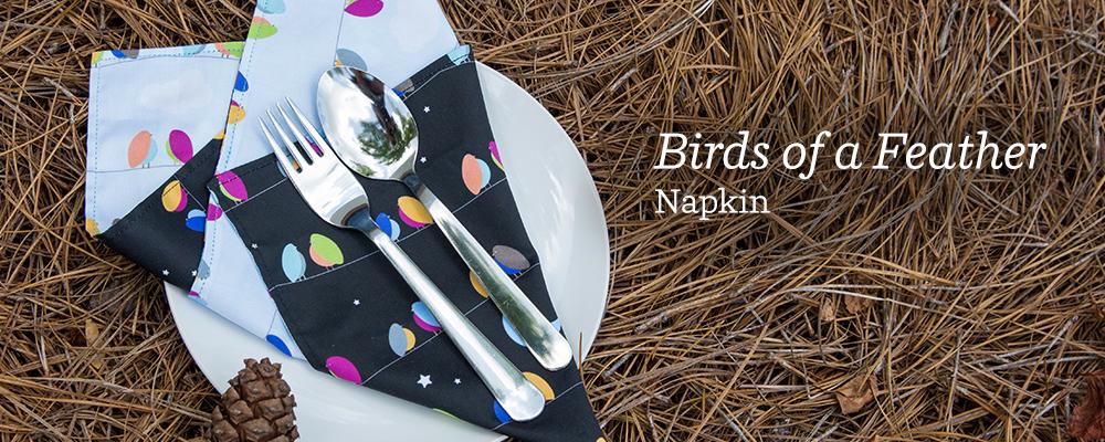 Birds of A Feather DIY Napkin