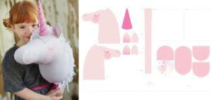 Magical Pink Unicorn Hobby Horse