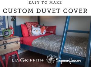 Easy to Make Custom Duvet Cover
