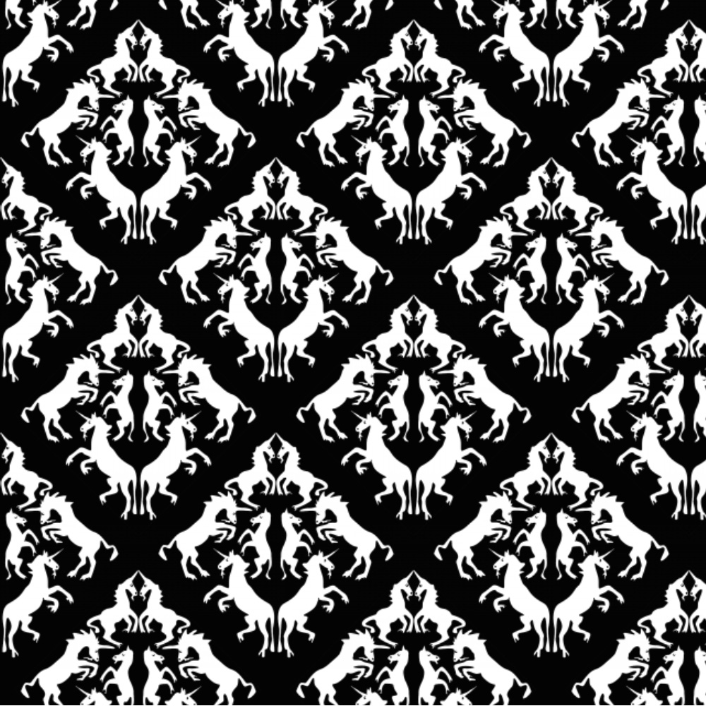 Unicorn Damask by eclectic house
