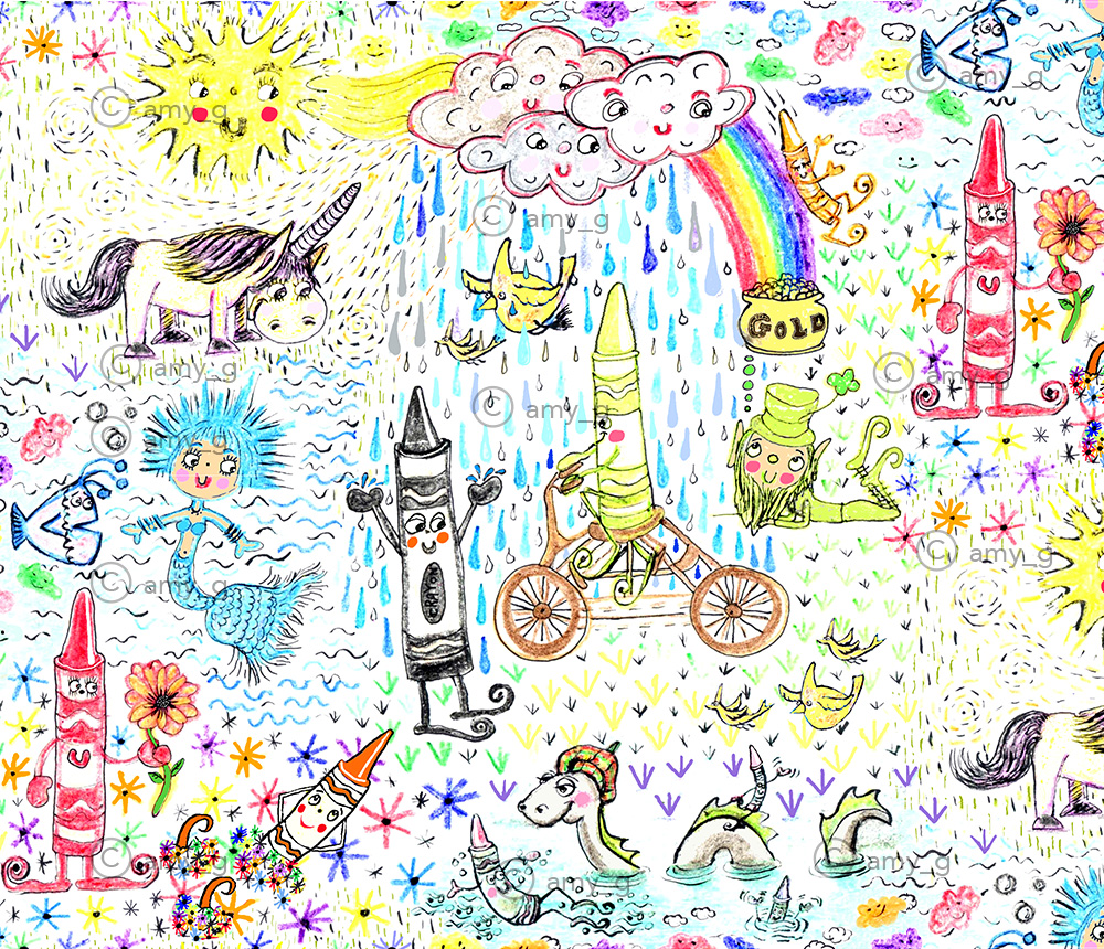 Happy Crayon Land by Amy G