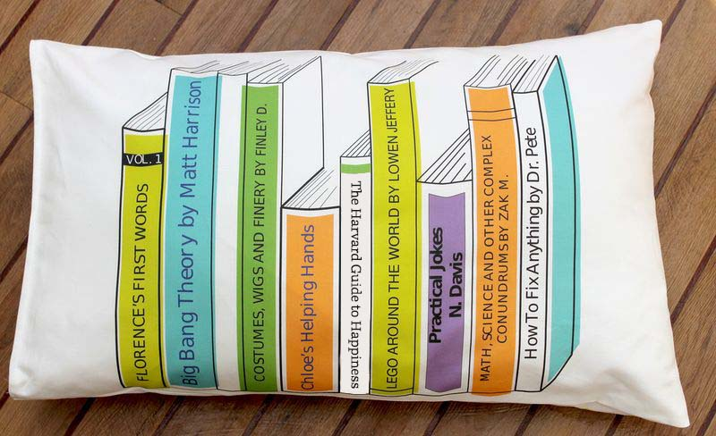 book spine pillow cushion