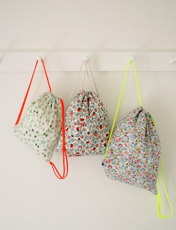 Purl Soho drawstring backpacks