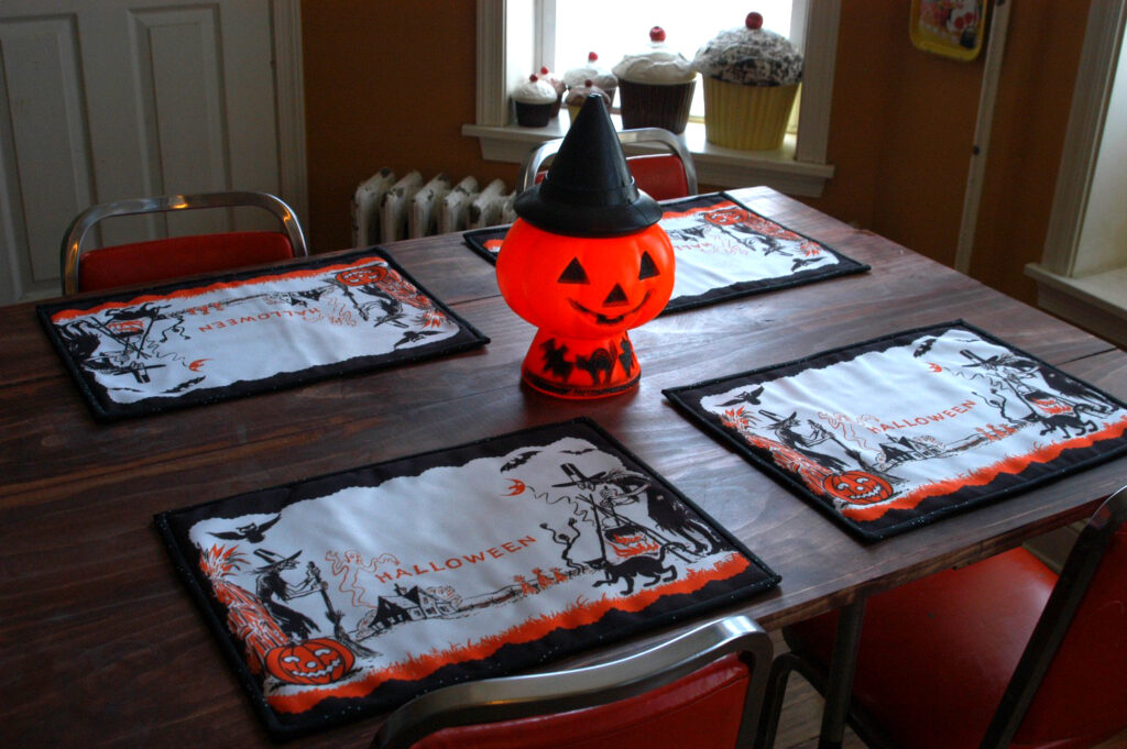 Vintage Halloween Placemats by Heidi Kenney