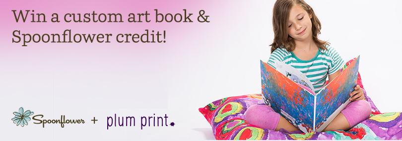 Win a custom art book and Spoonflower credit