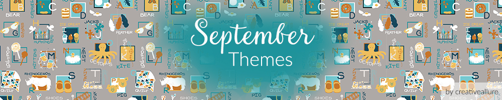 september weekly prompt design themes