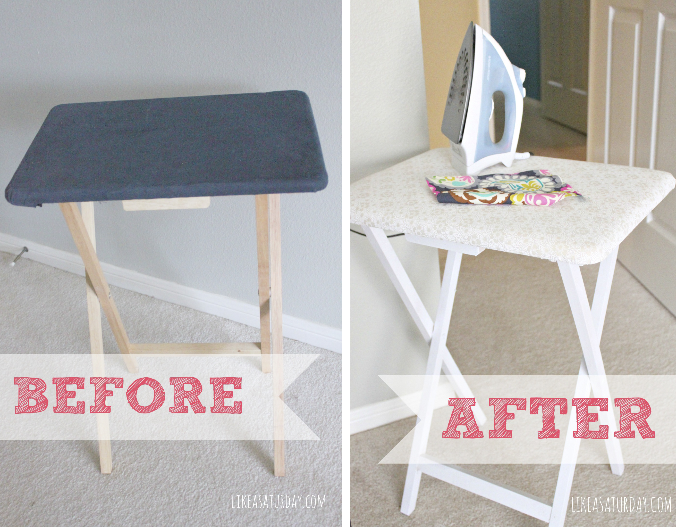 DIY Small Ironing Table