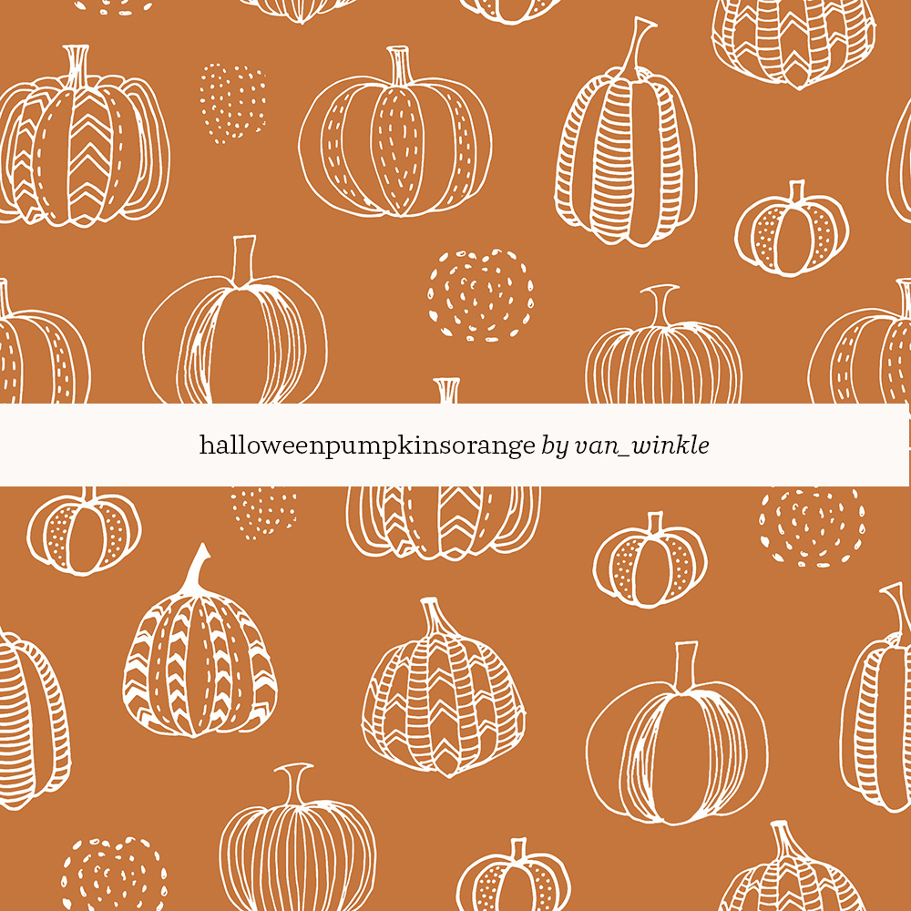 Halloween Pumpkins Orange by Van Winkle