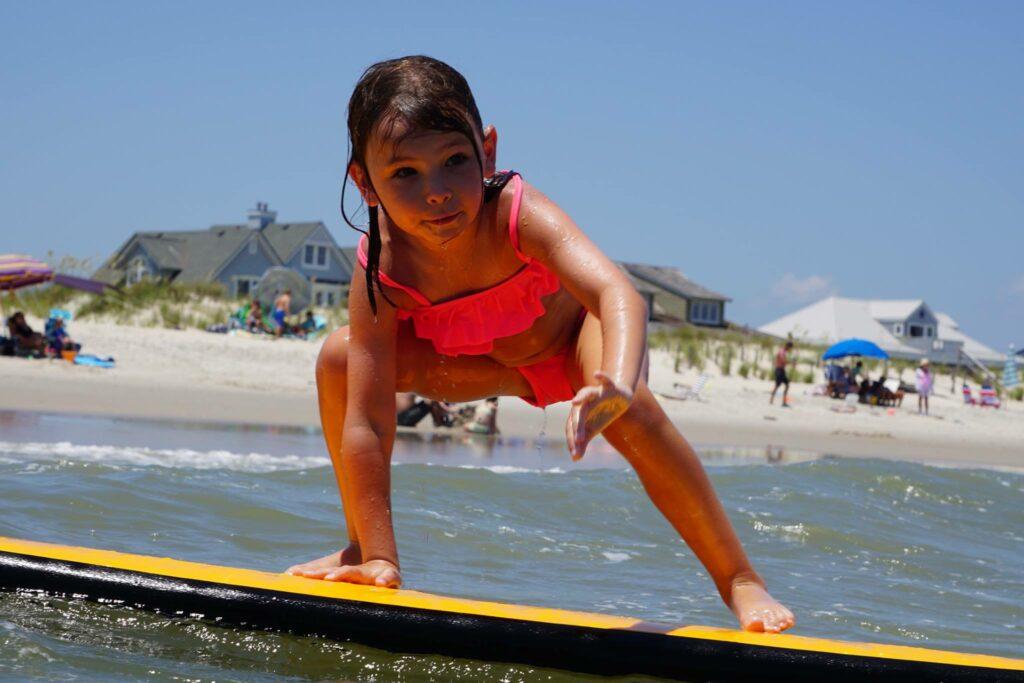Lilah surfing