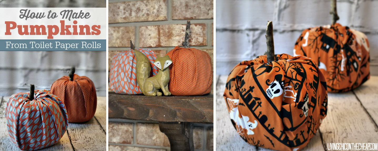 Easy Toilet Paper Roll Fabric Pumpkins