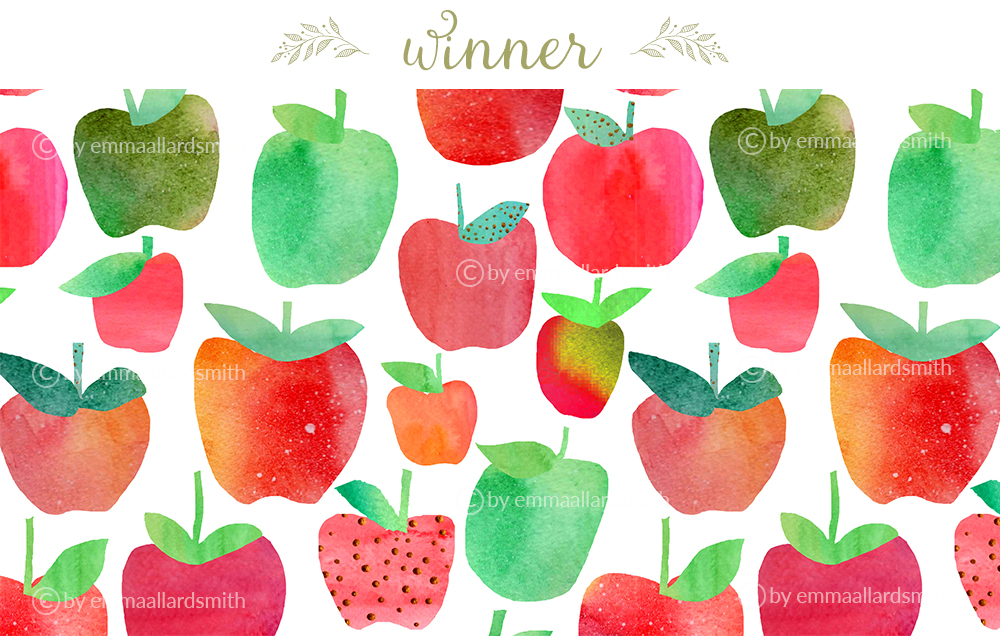 Watercolour Apples | Emma Allard Smith was this week's Plum Pick!