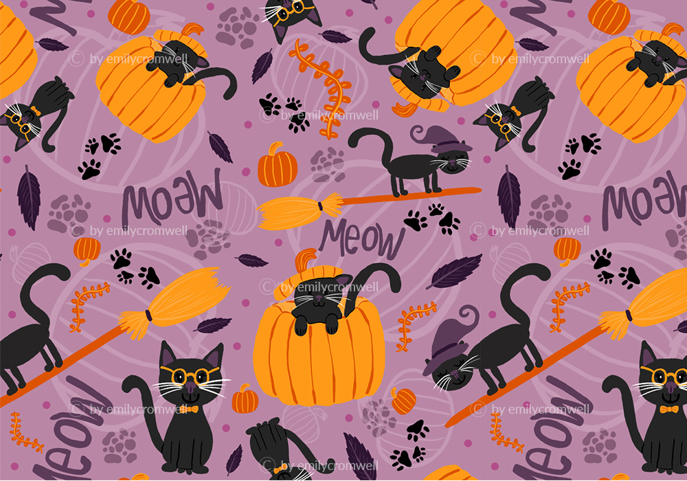 Halloween Cats by Emily Cromwell