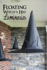 Floating Witch Hat Halloween Luminaries