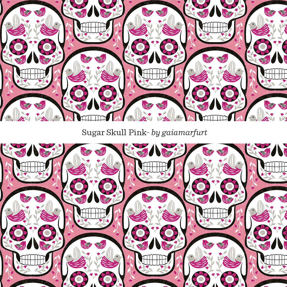Sugarskull - pink by gaiamarfurt