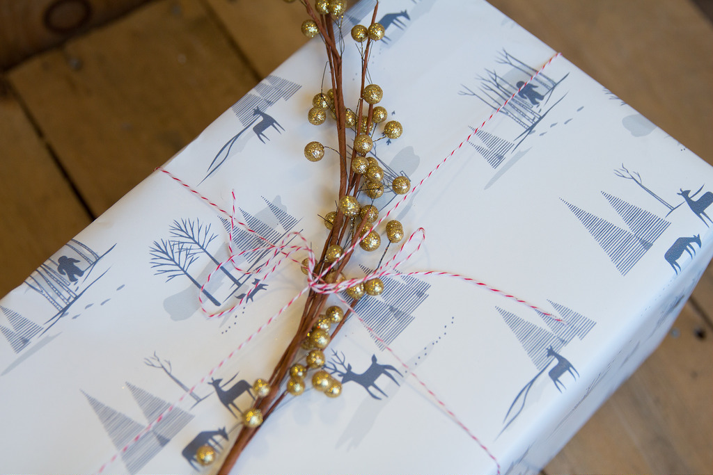 winter gift wrap box