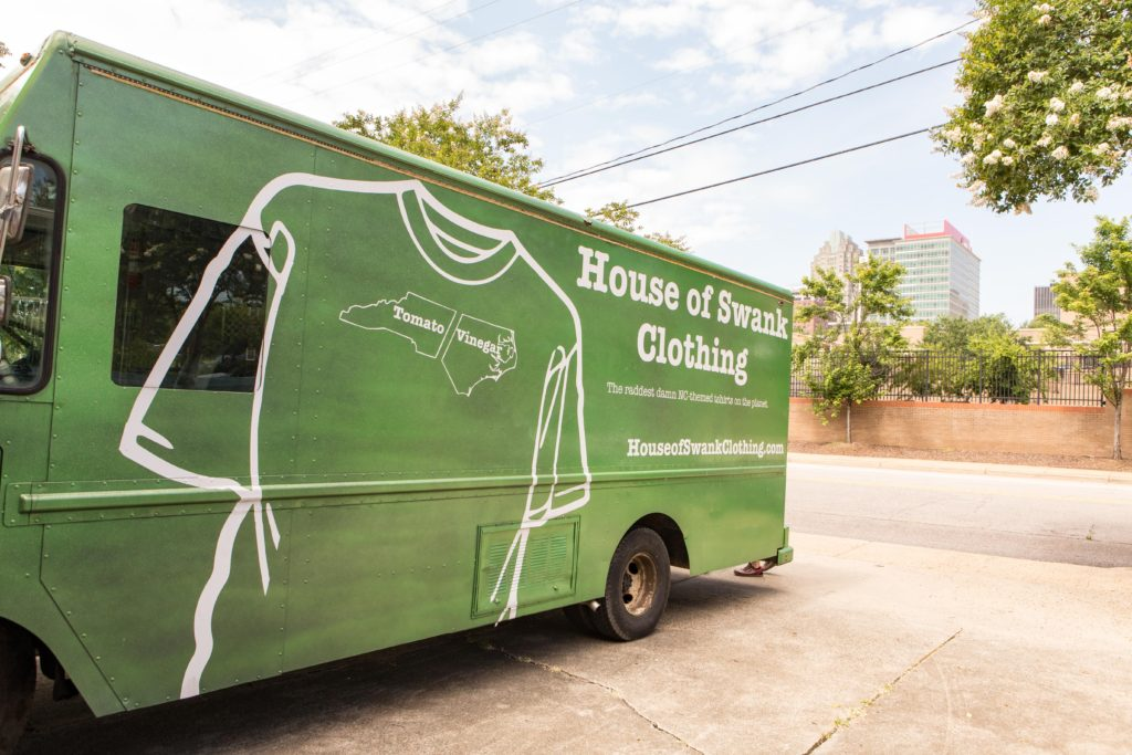 House of Swank Clothing bus