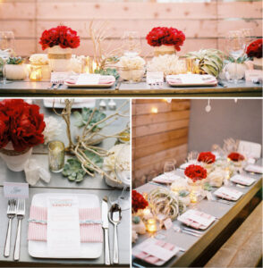 modern cali holiday tablescape