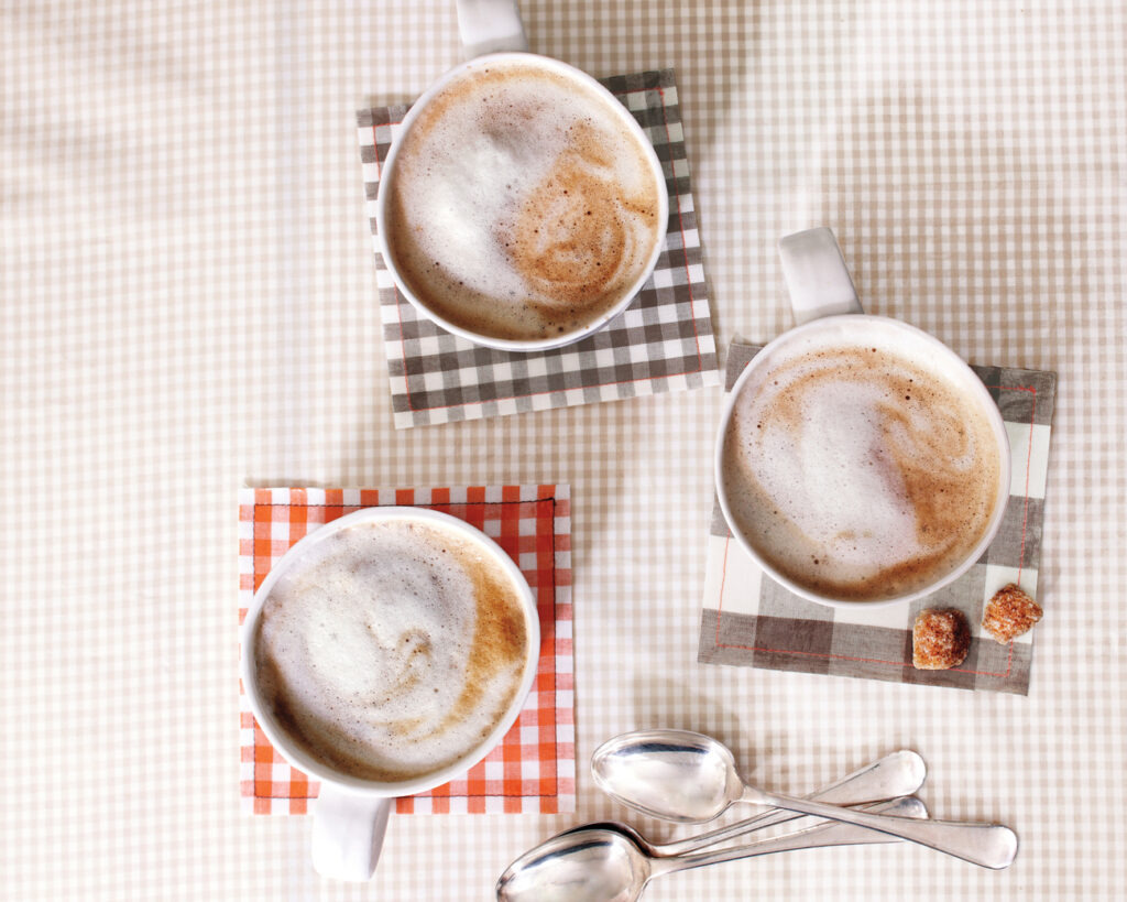 oilcloth gingham coasters from Martha Stewart