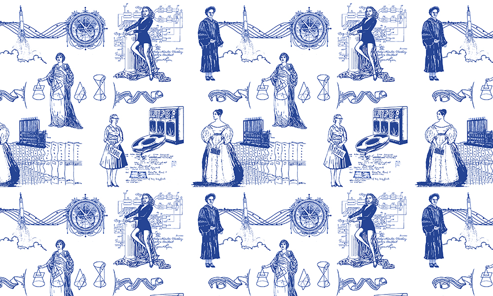 women in computer science design by Elramsay on Spoonflower