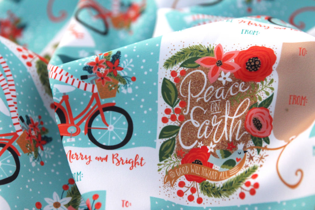 poinsettia gift tags by Cynthia Frenette