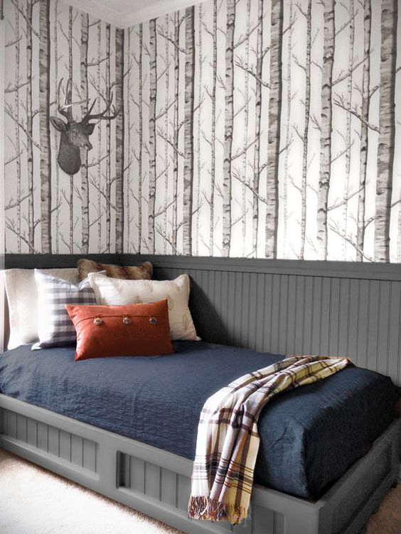 Birch Grove wallpaper by Willowlane Textiles