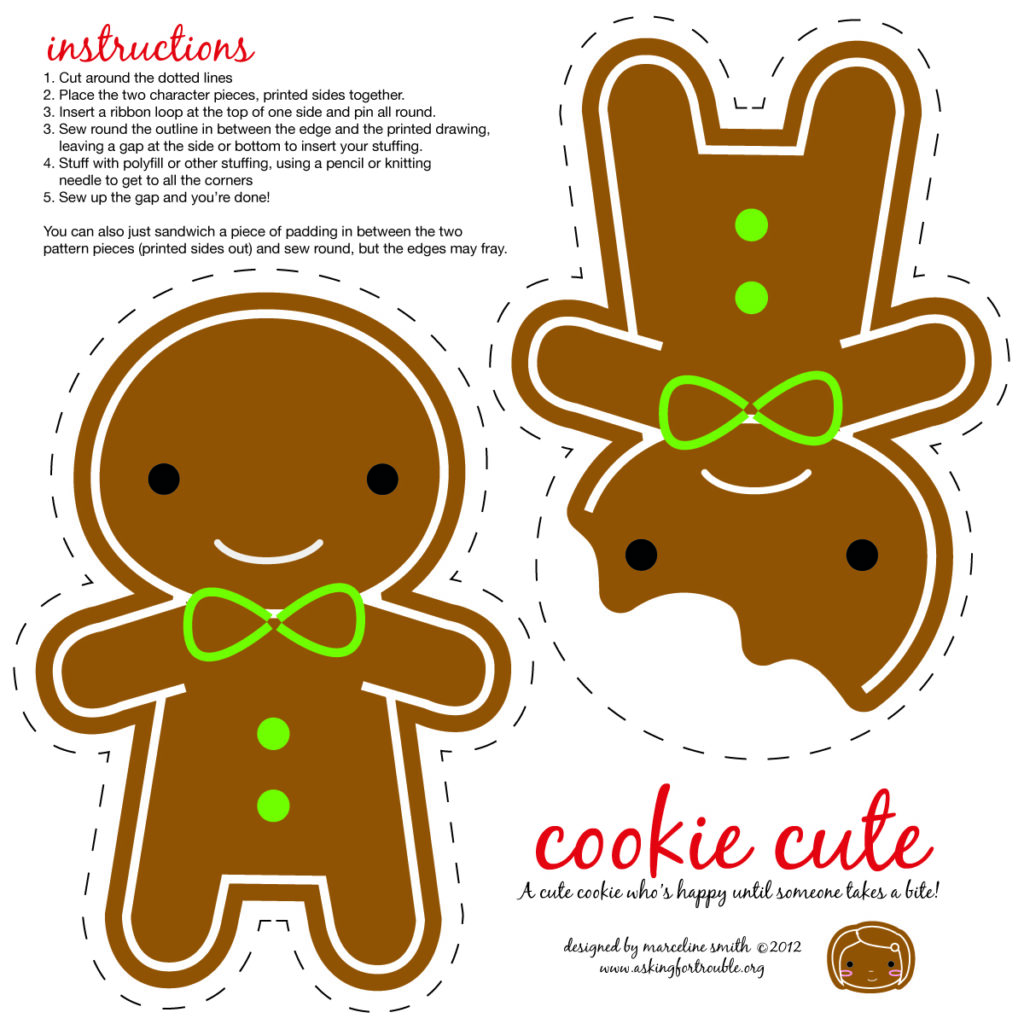 Cookie Cute ornament from Spoonflower