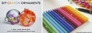 DIY Drip Crayon Ornaments