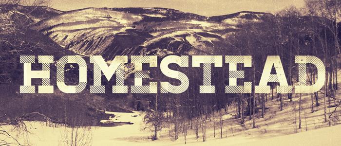 Homestead free font