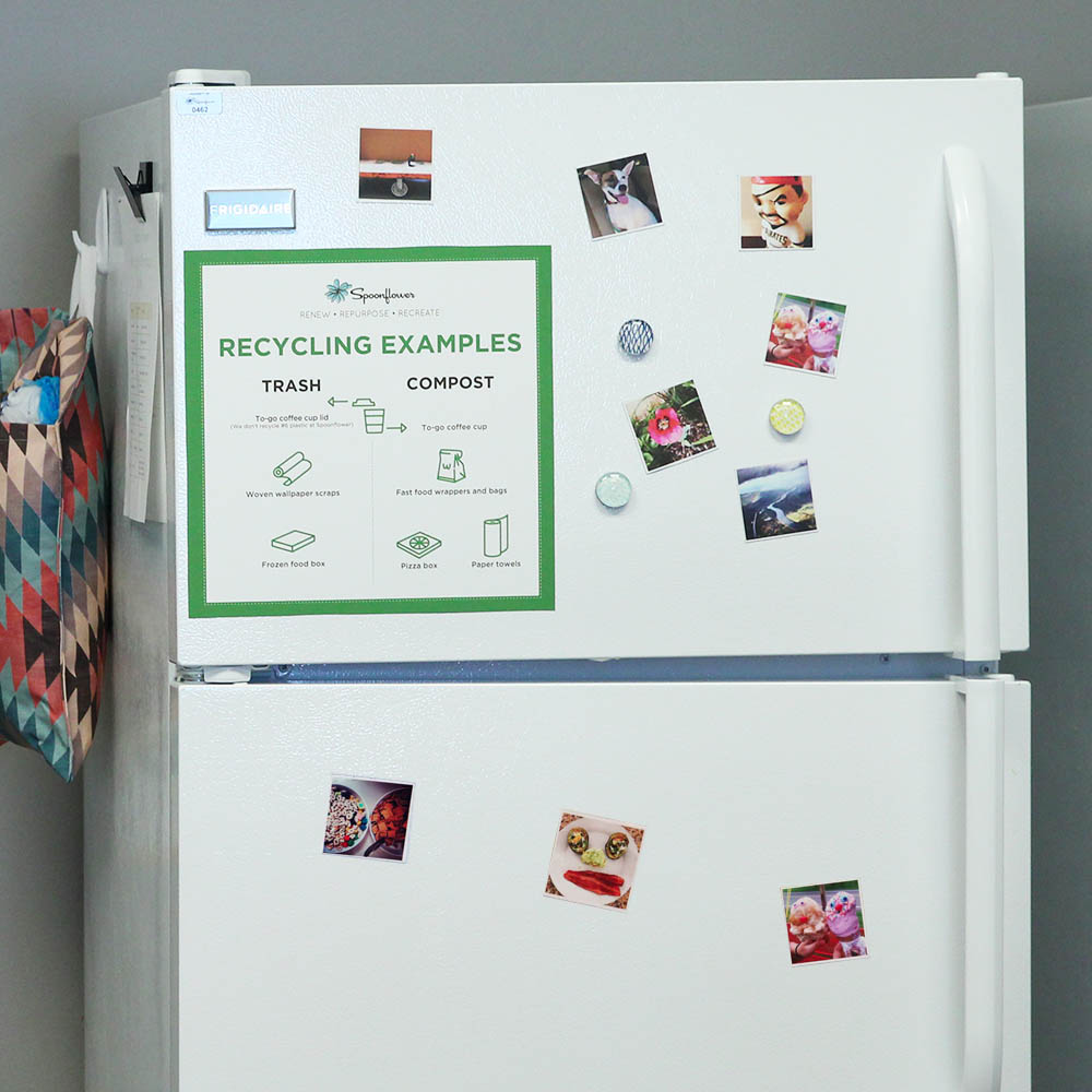 Instagram magnets add a pop of color on any 'fridge!