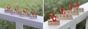 Personalized Scrabble Ornaments to make with you Kids