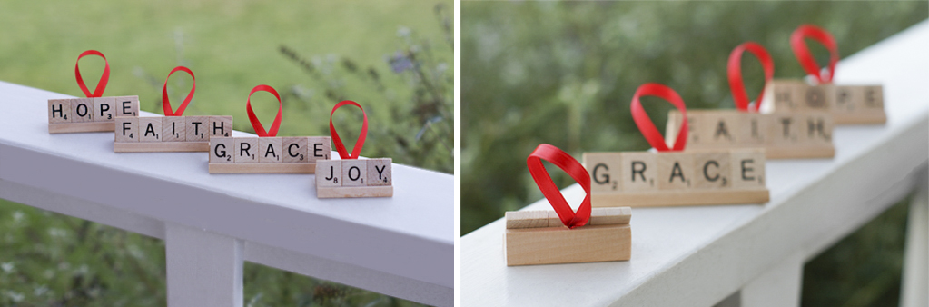 Personalized Scrabble Ornaments to make with your kids