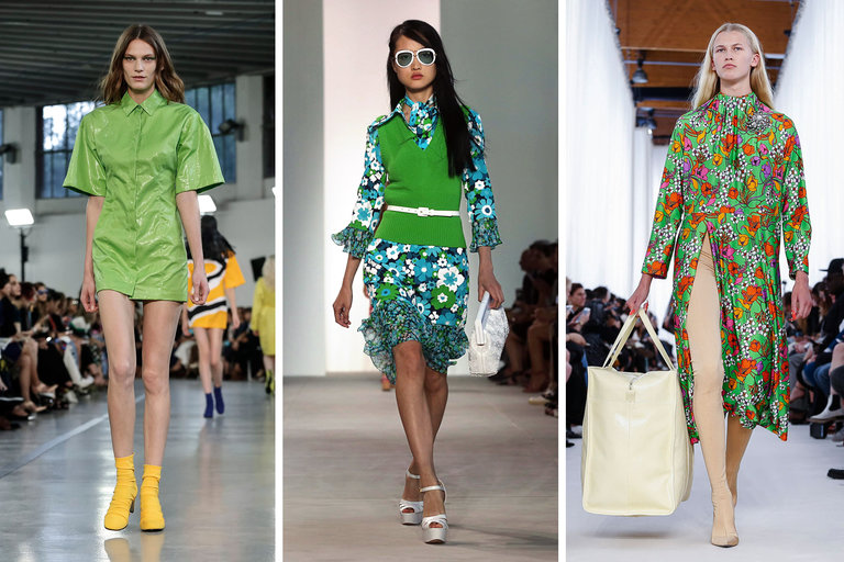 From left, Emilio Pucci, spring 2017; Michael Kors, spring 2017; and Balenciaga, spring 2017. Credit Valerio Mezzanotti for The New York Times; Hiroko Masuike/The New York Times; Valerio Mezzanotti for The New York Times