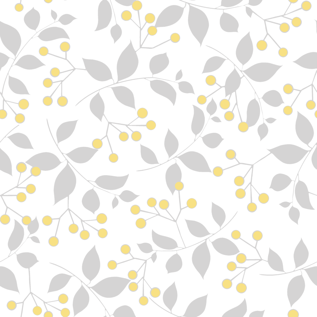 Sprig, Mist Lemon block print design available on Spoonflower