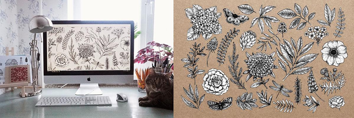 Designer Mary Zabaikina's studio