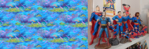 Great barrier reef by Vinpauld plus his collection of Superman figurines