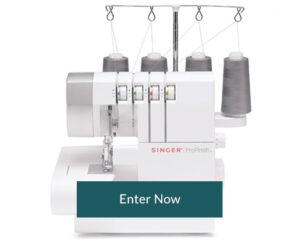 Enter now for a SINGER Serger!