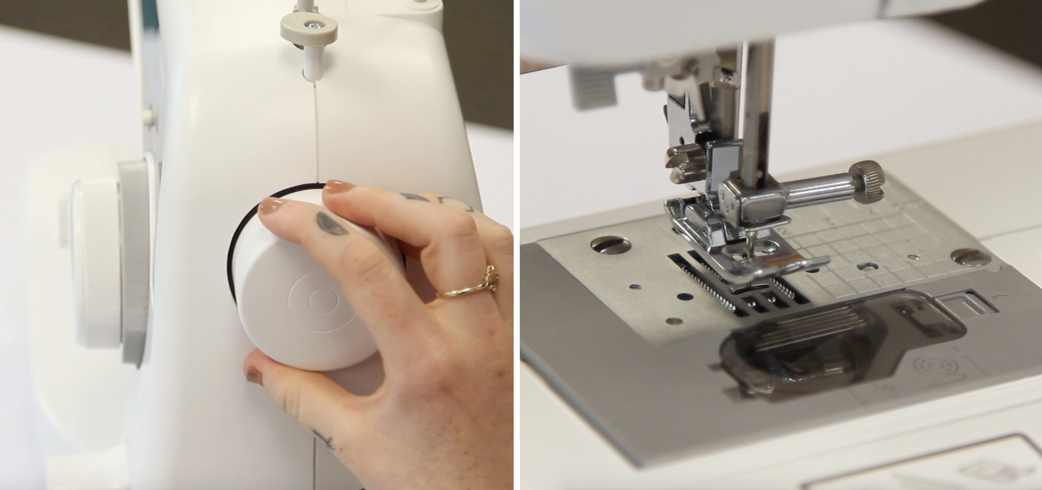 Needle in the form of a sewing machine