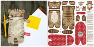 Wood Mouse and Bobbit Pencil Case Cut and Sew