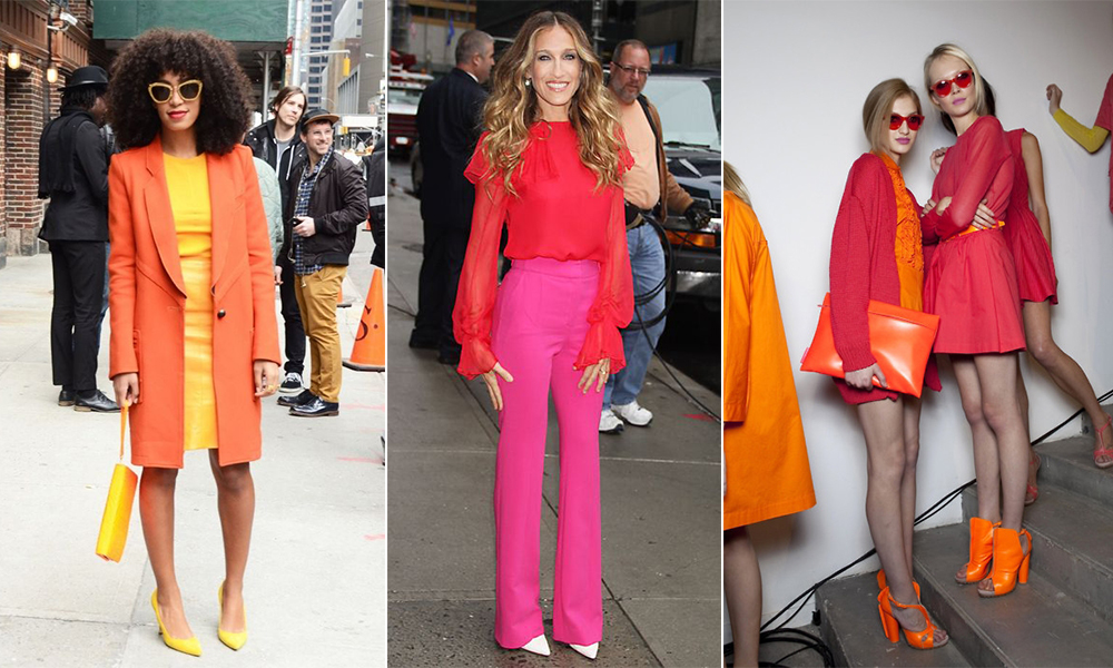 Analogous Color Schemes Dominate The Fashion World Style Icons From Solange Knowles To Sarah Jessica Parker Understand Confident Sophistication That