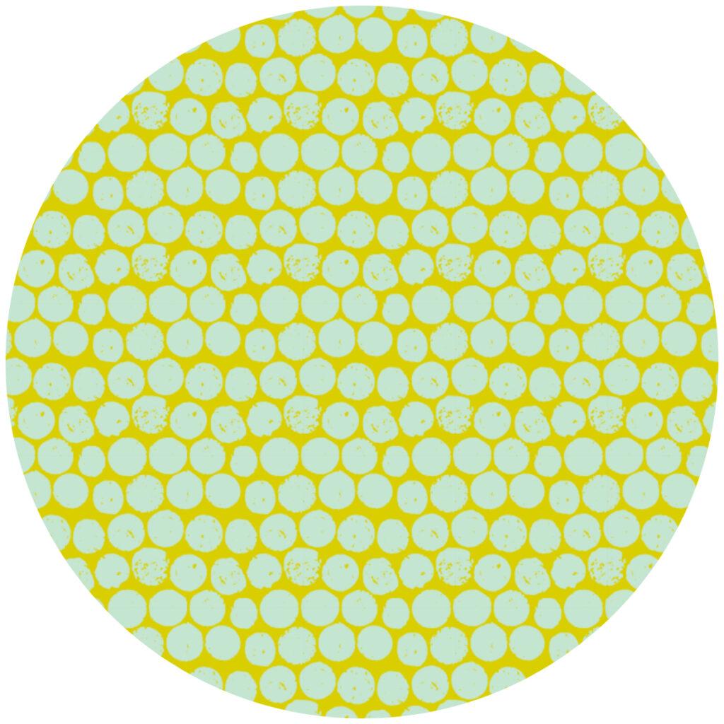 cork polka chartreuse mint by Scrummy