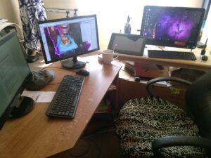 James Hackett studio desk space