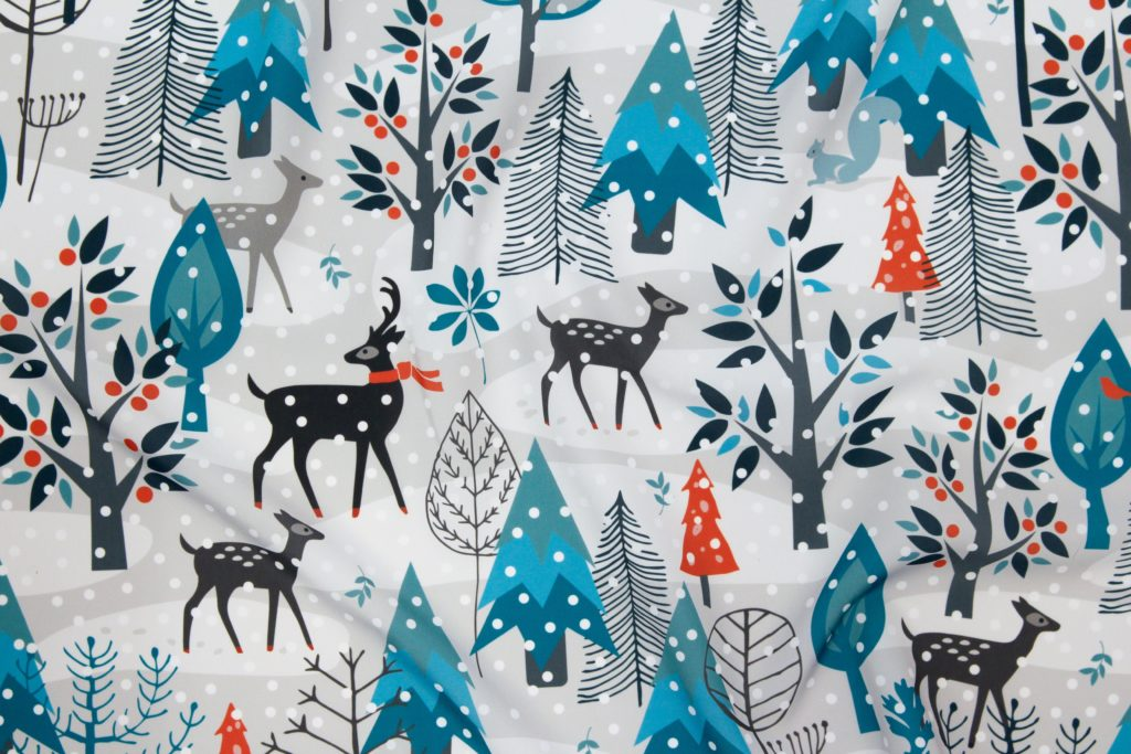 Winter Snow Woodland Animals by Mariafaithgarcia