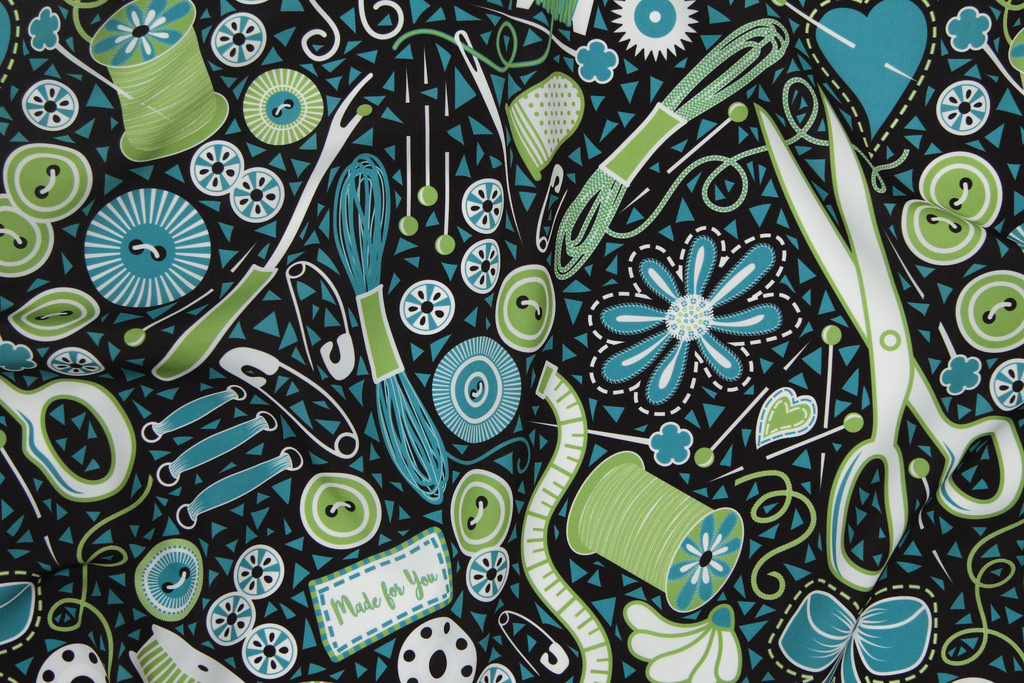 Mosaic Sewing Notions by Virginia O on Spoonflower